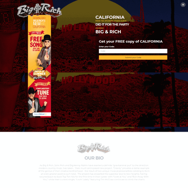 Big and Rich Promotional Web Design