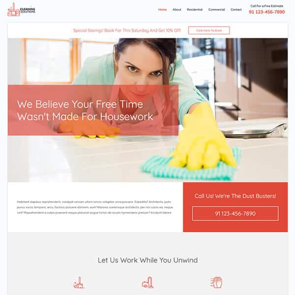 Cleaning Services Web Design