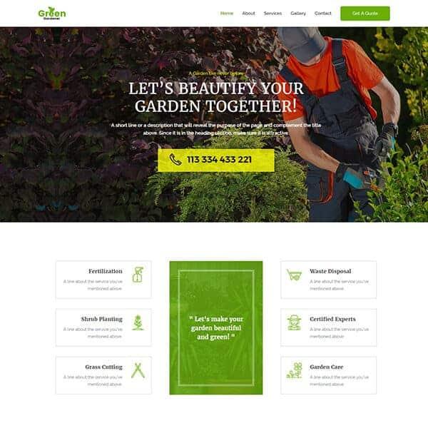 Landscaping Web Design